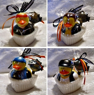 Biker Duck Wedding Favors