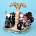 Motorcycles with Palm Tree